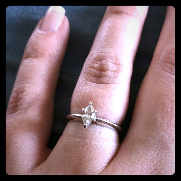 Kay Jewelers Jewelry Sale 13ct Marquis Cut Diamond And White Gold Poshmark